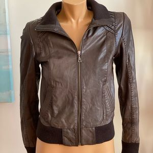 Genuine Leather Jacket - Brown - XS